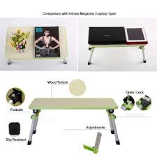 Laptop Desk With Speakers by Prado Foldable Laptop Table Adjustable Portable Notebook Bed Desk