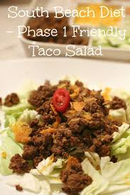 south beach diet phase 1 friendly taco salad