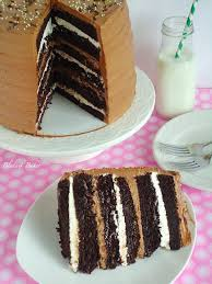 toasted marshmallow filled chocolate layer cake blahnik baker