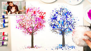 bubble wrap painting technique kids easy coloring trees