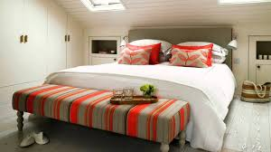 Grey And Orange Bedroom Ideas by Bedroom Grey Orange Bedroom Bench White Bedcover Wall Lamps