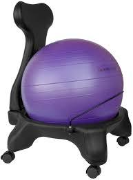Modern Ball Chair Isokinetics Inc Balance Exercise Ball Chair With Purple 52cm