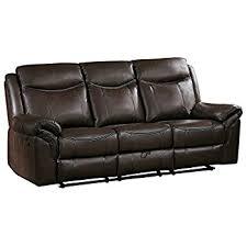 amazon com homelegance aram double recliner sofa with drop down