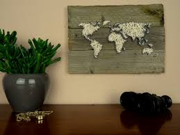 Etsy World Map by World Map Wall Decal String Art Map Reclaimed Wood Art