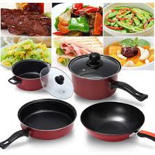 batterie cuisine ceramique 8pcs batterie de cuisine kit casseroles poêle céramique marmites