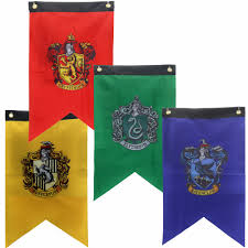 College Flag 40 Pcs Harry Potter Party Supplies College Flag Banners Gryffindor
