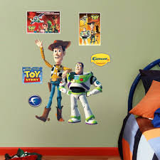 amazon com toy story woody buzz junior wall graphic home kitchen