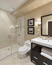 bathroom with walkin shower and toilet grey square modern small