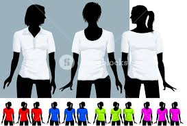 women u0027s t shirt and polo shirt design template with black body