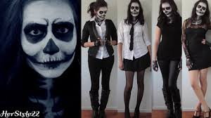 Halloween Skeleton Faces by Skull Makeup Tutorial Ideas Halloween 2014 Youtube