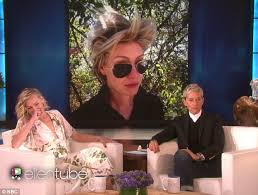 portia hair company ellen degeneres embarrasses wife portia de rossi with bad hair day