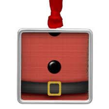 santa belt ornaments keepsake ornaments zazzle