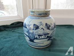 white ginger jar early chinese blue white ginger jar canton style c1820 lid for