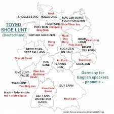 German States Map by Phonetic German States And State Capitals For English Speakers By