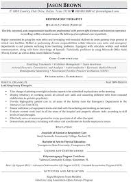 Massage Therapist Resume Template Medical Resume Examples Resume Professional Writers