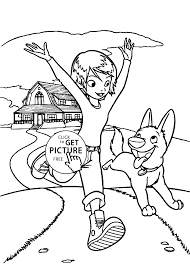 bolt with penny coloring pages for kids printable free coloing