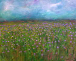 french countryside paintings purple poppies on the french countryside by chaya