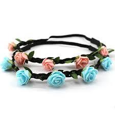 cheap headbands cheap flower crown headbands for girl foam flower garland with