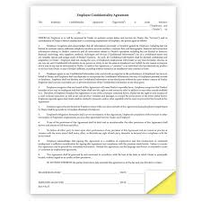 employee confidentiality agreement form u2013 qty of 100 tucker