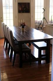 Farm Tables With Benches Farmhouse Dining Table With Bench Foter