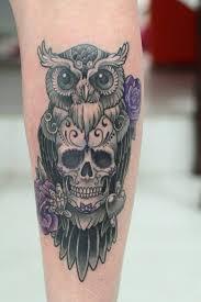 owl skull cool owl skull tattoos owl and