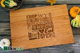 personalized engraving personalized engraved cutting board word cloud design