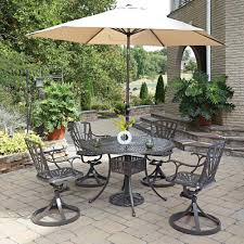 Outdoor Patio Dining Sets With Umbrella - round patio dining sets patio dining furniture the home depot