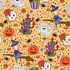 halloween repeating background patterns bride halloween vector seamless patterns endless texture can be