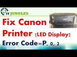cara reset printer canon mp258 error e13 fixed canon printer error p 0 2 p02 led display youtube