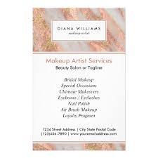 Makeup Artist Supply Sparkling Pink Marble Abstract Makeup Artist Flyer Zazzle Com