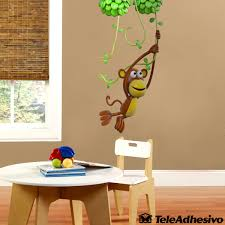 monkey playing on the vine