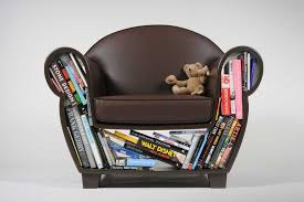 Small Bookshelf For Kids Cute Small Leather Kids Chair With Dark Brown Color And Bookshelf