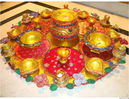candle tray with colorful designs http www tamilwedding eu