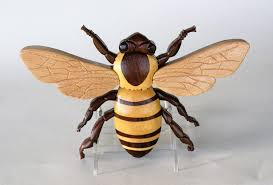 Bee Home Decor by Honey Bee Intarsia Wall Hanging Insect Wood Carving Bumble Bee