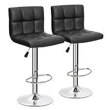 amazon com furmax black leather bar stools counter height modern