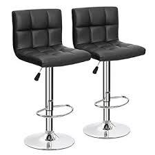 Black Swivel Bar Stool Furmax Black Leather Bar Stools Counter Height Modern