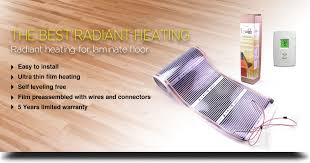 radiant heating system for laminate floor