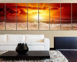 large wall art canvas sunset ocean print xxl wall canvas art