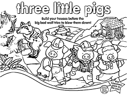 three little pigs box coloring page wecoloringpage