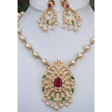 necklace set image images Buy american diamond necklace sets online at orne jewels jpg