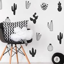 stickers d oration chambre b cactus stickers muraux woodland tribal cactus stickers muraux pour