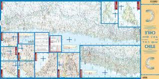 laminated chile map by borch english spanish french italian
