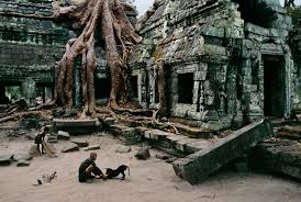 ta photographers with dog at ta prohm temple cambodia 10032 photography