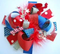 fourth of july hair bows 4th of july sparkle hair bow