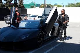 kanye lamborghini aventador kanye drives his birthday gift 750 000 matte black
