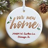 personalized ornament our new home clearance