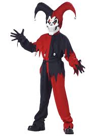 red witch halloween costume kids evil jester costume