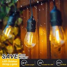 outdoor sockets for christmas lights 48 foot long 2 watt led outdoor string lights hangling for party