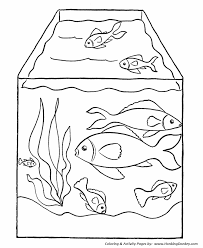 pet fish coloring pages free printable pet fish tank