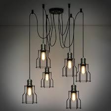 Long Hanging Chandeliers Industrial Loft Lighting Rustic Industrial For The Warehouse